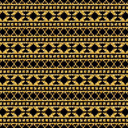 jacquard: vector golden geometric modern pattern