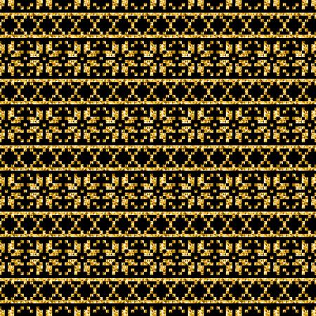 figural: vector golden geometric modern pattern