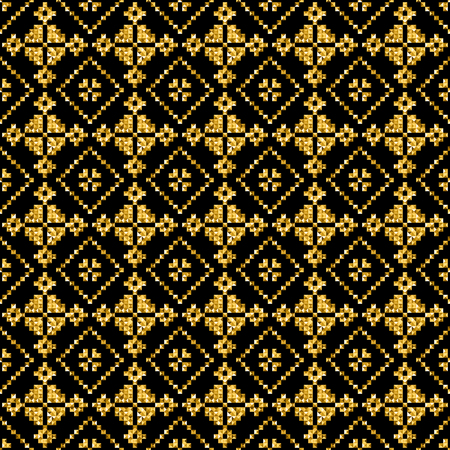 jacquard: golden modern vector geometric pattern