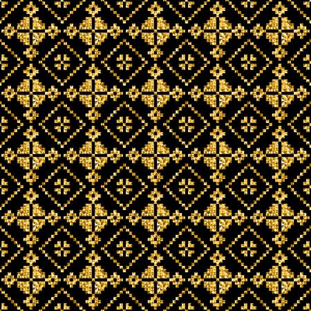 figural: golden modern vector geometric pattern