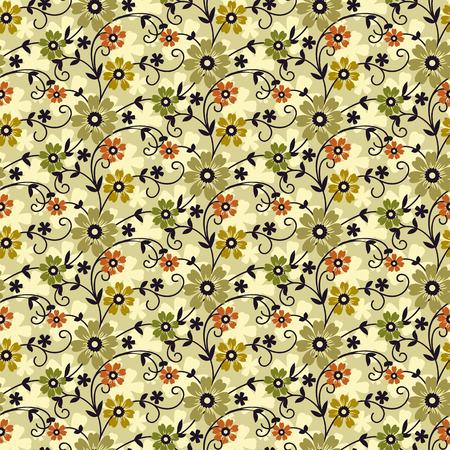 floral vectors: cute modern colorful floral pattern Illustration