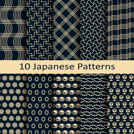jacquard: set of ten japanese patterns