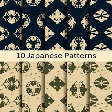 japan pattern: set of ten japanese patterns