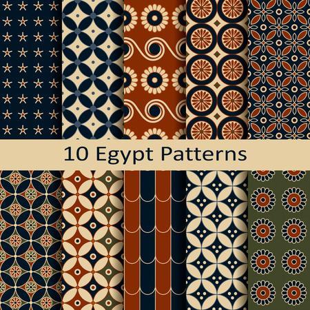 figural: set of ten egypt patterns