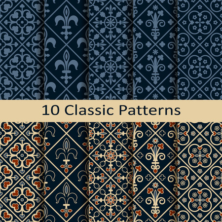 flower age: set of ten classic patterns