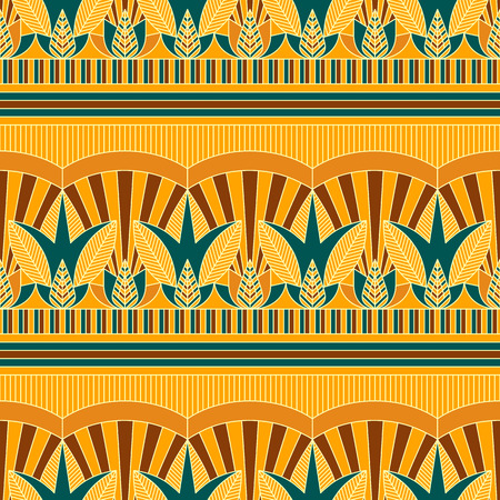 Seamless vector traditional coloured egypt pattern