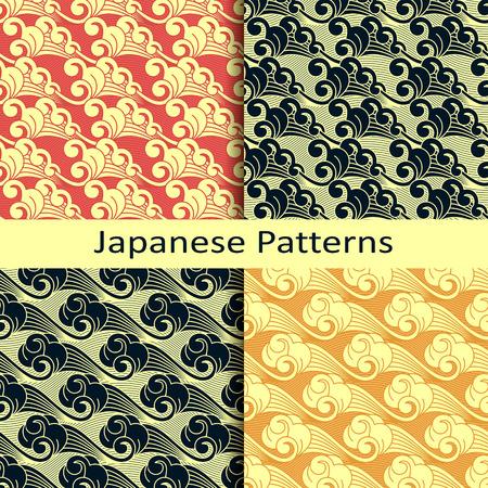 Ensemble de quatre modèles japonais Banque d'images - 52479979