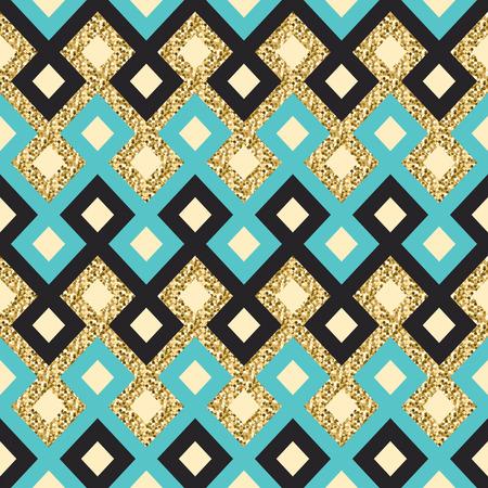 seamless vector goldern arabic pattern Illustration