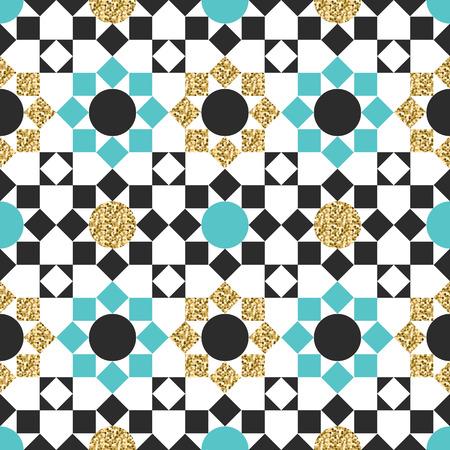 figural: seamless vector arabic golden pattern