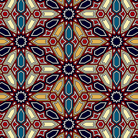 traditional pattern: seamless vector traditional arabic geometric pattern