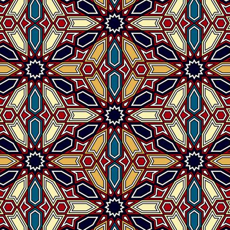 sin fisuras vector patrón geométrico árabe tradicional