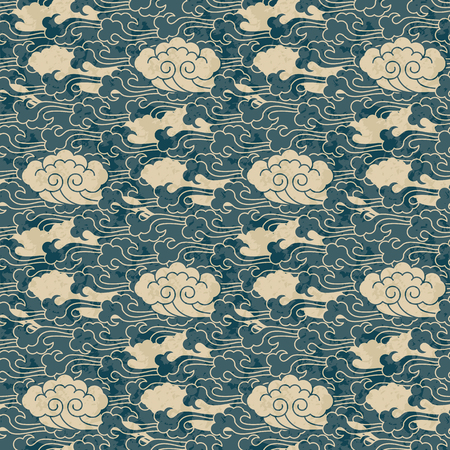 seamless traditional cloud chinese pattern design