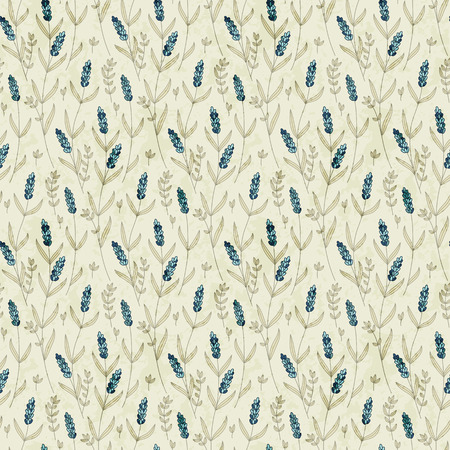country flowers: seamless vector field flower hand drawn pattern