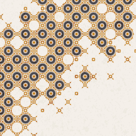 vector vintage background with arabic ornament. design for covers, print, interior