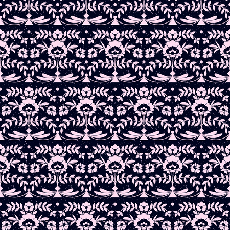 seamless pattern with floral ornamentation. seamless template in swatch panel. design for textile, interior, wrapping Ilustracja