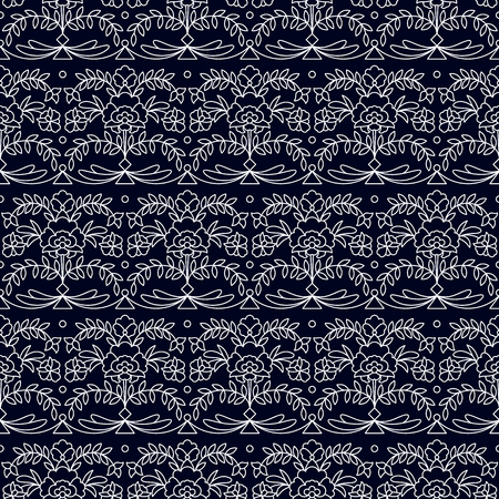 seamless pattern with floral ornamentation. seamless template in swatch panel. design for textile, interior, wrapping Illusztráció