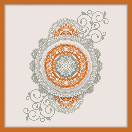 vintage indian mandala template. design for backgrounds, cards, packaging