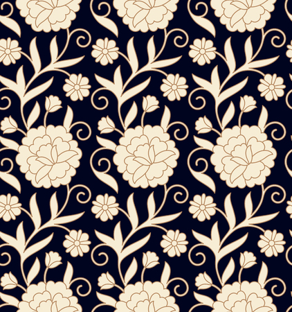 seamless vector vintage floral dark pattern design. seamless pattern in swatch panel