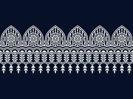 seamless vector border with indian ornament. seamless pattern in swatch panel