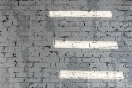 rusty background: Background of old vintage white brick wall texture with white lines of light.
