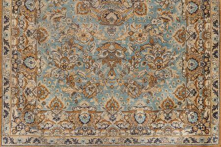 Hintergrund des antiken alten orientalischen Teppichs, Nahaufnahme