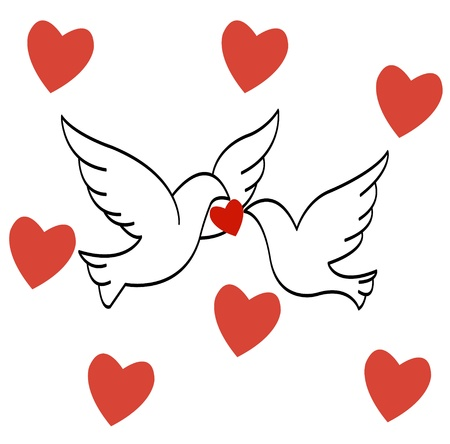 love birds Stock Vector - 17805447