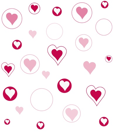 Vector background with hearts Stock Vector - 17805448