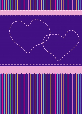 striped, abstract background with hearts Stock Vector - 18066127