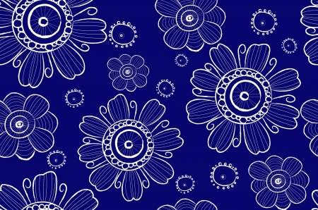 annotation: seamless background with abstract flowers