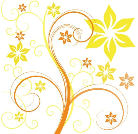 annotation: abstract floral background Illustration