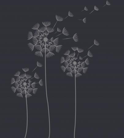 trajectoire: pissenlit abstraite Illustration