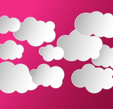 abstract background with clouds Illustration