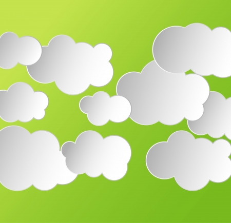 abstract background with clouds Vector