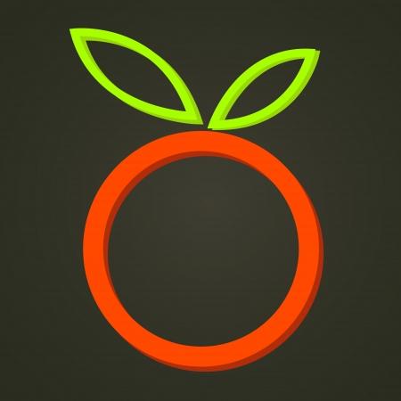 absract: Absract frutta su sfondo nero retro Vettoriali