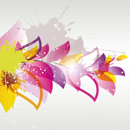 abstract colored flower  Illustration