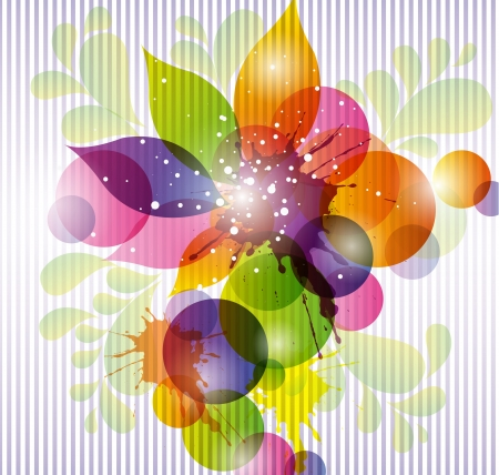 colored abstract background Illustration