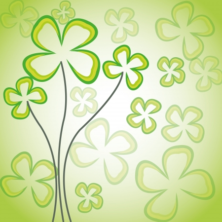 Abstract flowers on green background