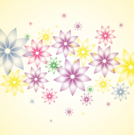 Background with bright colorful flowers