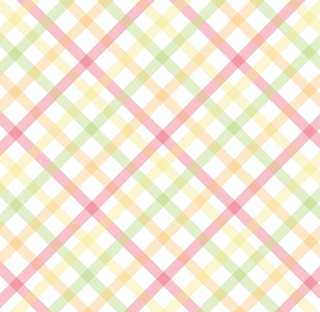 pastel colored: pink, yellow, green diagonal pattern Illustration