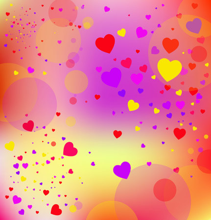 vector background with hearts, Valentines Day