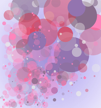 enamored: Background with colored circles.