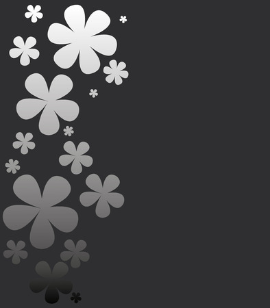 Gentle vector background with flowers
