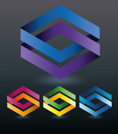 Abstract logo, with polygons for business and work Иллюстрация