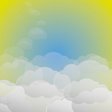 Gentle background with clouds