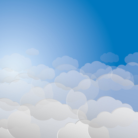 Vector gentle background with clouds