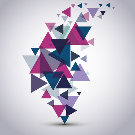 Vector pattern with triangles Illustration