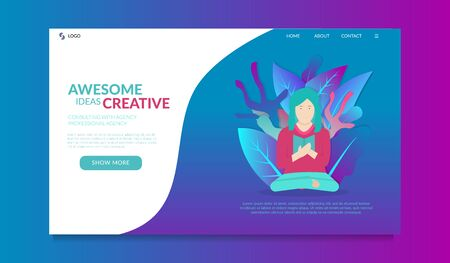 landing page for creative inspiration media