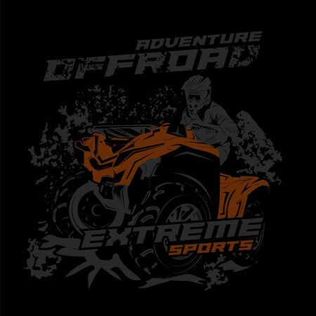 vector illustration of extreme sports ATV Banque d'images - 142985120