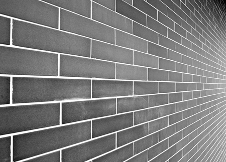Gray brick wall  photo