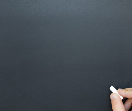 nothing: Blackboard Stock Photo